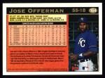 1997 Topps #164  Jose Offerman  Back Thumbnail