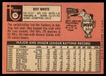 1969 Topps #25  Roy White  Back Thumbnail