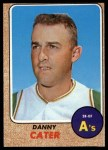 1968 Topps #535  Danny Cater  Front Thumbnail