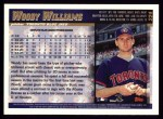 1998 Topps #224  Woody Williams  Back Thumbnail