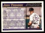 1998 Topps #26  John Thomson  Back Thumbnail