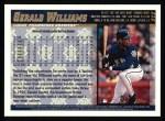1998 Topps #212  Gerald Williams  Back Thumbnail