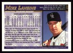 1998 Topps #459  Mike Lansing  Back Thumbnail