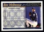 1998 Topps #55  Ben McDonald  Back Thumbnail