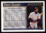 1998 Topps #9  Tony Clark  Back Thumbnail