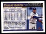 1998 Topps #54  Carlos Garcia  Back Thumbnail