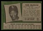 1971 Topps #373  Tom McCraw  Back Thumbnail
