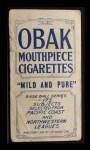 1910 T212 Obak POR Seaton  Back Thumbnail