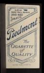 1909 T206 PCH Hooks Wiltse  Back Thumbnail
