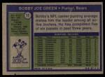 1972 Topps #11  Bobby Joe Green  Back Thumbnail