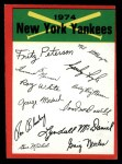 1974 Topps Red Team Checklist   Yankees Team Checklist Front Thumbnail