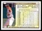 1999 Topps #319  Tom Candiotti  Back Thumbnail