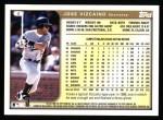 1999 Topps #8  Jose Vizcaino  Back Thumbnail