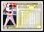 1999 Topps #251  Ellis Burks  Back Thumbnail