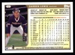 1999 Topps #157  Darren Lewis  Back Thumbnail