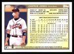 1999 Topps #355  Chipper Jones  Back Thumbnail