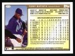 1999 Topps #272  Tony Batista  Back Thumbnail