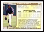 1999 Topps #58  Garret Anderson  Back Thumbnail