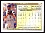 1999 Topps #278  Chuck Finley  Back Thumbnail