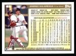 1999 Topps #2  Andres Galarraga  Back Thumbnail