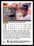 2000 Topps #313  Mark Loretta  Back Thumbnail