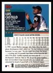 2000 Topps #36  Luis Castillo  Back Thumbnail