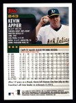 2000 Topps #243  Kevin Appier  Back Thumbnail