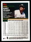 2000 Topps #429  Randy Velarde  Back Thumbnail