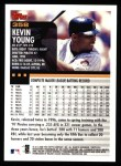 2000 Topps #358  Kevin Young  Back Thumbnail