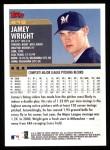 2000 Topps #419  Jamey Wright  Back Thumbnail