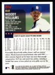 2000 Topps #82  Woody Williams  Back Thumbnail