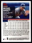 2000 Topps #340  Michael Barrett  Back Thumbnail