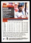 2000 Topps #169  Reggie Jefferson  Back Thumbnail