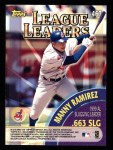 2000 Topps #467   -  Manny Ramirez / Larry Walker League Slugging Percent Leaders Back Thumbnail