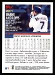 2000 Topps #281  Shane Andrews  Back Thumbnail