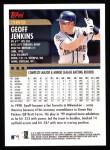 2000 Topps #389  Geoff Jenkins  Back Thumbnail