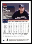 2000 Topps #301  Matt Clement  Back Thumbnail