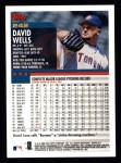 2000 Topps #242  David Wells  Back Thumbnail