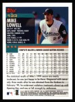 2000 Topps #133  Mike Lowell  Back Thumbnail