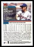 2000 Topps #201  Alex Gonzalez  Back Thumbnail