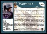 2001 Topps #456  Felix Martinez  Back Thumbnail