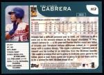 2001 Topps #113  Orlando Cabrera  Back Thumbnail