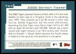 2001 Topps #762   Detroit Tigers Team Back Thumbnail