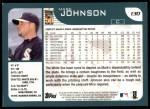 2001 Topps #130  Mark Johnson  Back Thumbnail