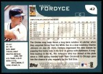 2001 Topps #43  Brook Fordyce  Back Thumbnail