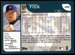 2001 Topps #691  Robert Fick  Back Thumbnail