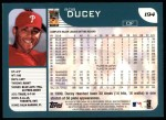 2001 Topps #194  Rob Ducey  Back Thumbnail