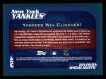 2001 Topps #402   New York Yankees Back Thumbnail