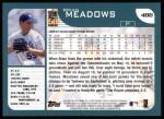 2001 Topps #486  Brian Meadows  Back Thumbnail