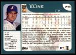 2001 Topps #246  Steve Kline  Back Thumbnail